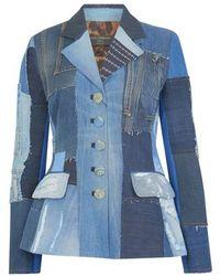 Dolce & Gabbana Patchwork Denim Jacket - Blue
