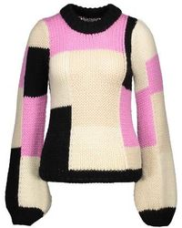 Ganni Colour Block Sweater - Pink