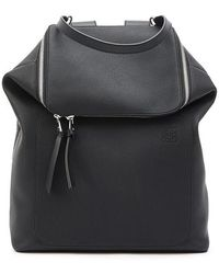 Loewe Goya Leather Backpack - Black