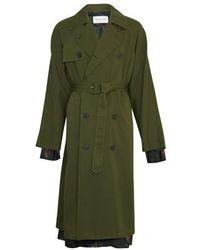 Dries Van Noten Trenchcoat - Green