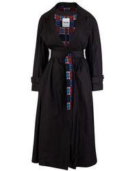 Koche Kimono Trench Coat - Black