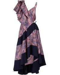 Loewe Asymmetric Dress - Multicolor