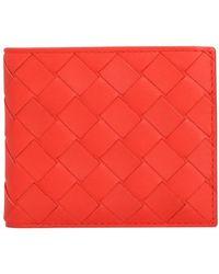 Bottega Veneta Brieftasche aus Intrecciato-Leder - Rot