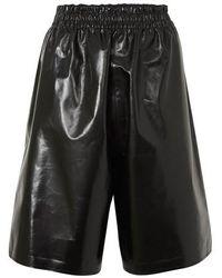 Bottega Veneta Shiny Leather Pants - Black