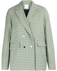 Roseanna Houndstooth Jacket - Green