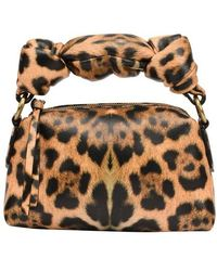 Dries Van Noten Clutch mit Leopardprint - Mehrfarbig