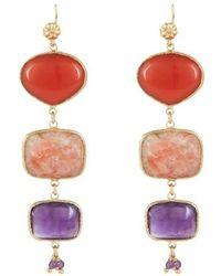 Gas Bijoux Silene Earringd - Purple