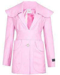 Patou Belted Jacket - Pink