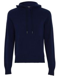 Tom Ford Hooded Sweatshirt - Blue
