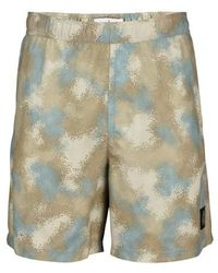 Stone Island Camo Swim Shorts - Grey