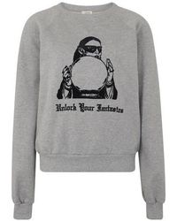 Celine Classic Sweatshirt In Flock Lady - Grey