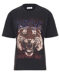 Anine Bing Tiger T-shirt - Black