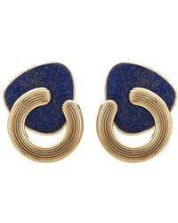 Gas Bijoux Mother Of Pearl Anemone Earrings - Blue