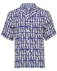 KENZO Chemise à manches courtes Mermaid Casual - Bleu