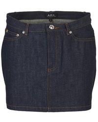 A.P.C. Mini Skirt - Blue