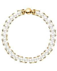 Louis Vuitton Lv Speedy Pearls One Rank Necklace - Metallic