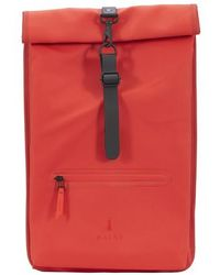 Rains Le Roll Top Rucksack - Rouge