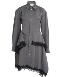 Koche Buttoned Dress - Grey