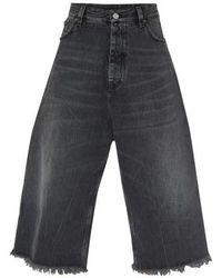 Balenciaga Suppercropped Jeans - Multicolour