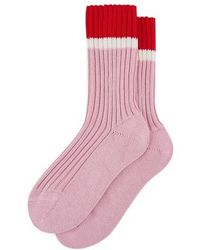 Prada Lisle Cotton Socks - Pink