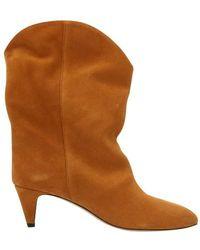Isabel Marant Suede Dernee Boots - Brown