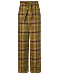 Alberta Ferretti Wide-leg Trousers - Green
