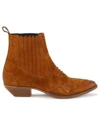 Roseanna Tucson Ankle Boots - Brown