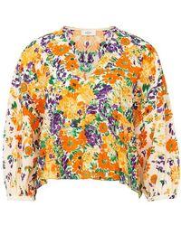 Roseanna Floral Print Blouse - Orange
