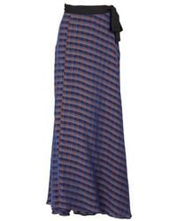 Forte Forte Long Wrap Skirt - Blue