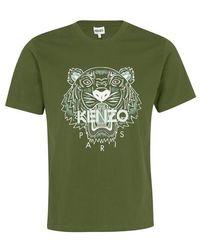 KENZO T-shirt Tiger - Vert