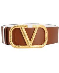 Valentino Garavani Garavani - V Logo Belt H.70 - Brown