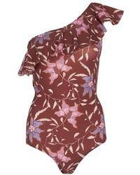 Étoile Isabel Marant Sicilya One Piece Swimsuit - Red