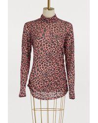 Vivetta Leopard Print Turtleneck - Pink