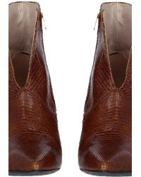 Momoní Torino Shoes In Scaly Leather - Brown