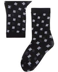 Fendi Logo Socks - Black