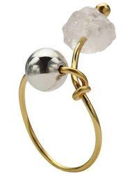 Marni Gold-tone Brass Ring - Metallic
