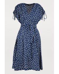 A.P.C. - Clare Polka-dot Cotton-blend Dress - Lyst