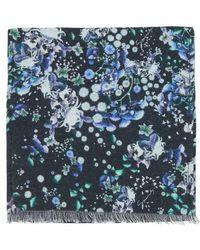 Givenchy Schal mit Blumendruck - Blau