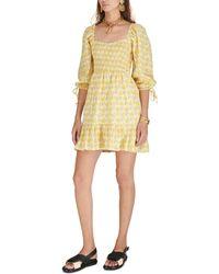 Faithfull The Brand Robe mini Romina - Jaune