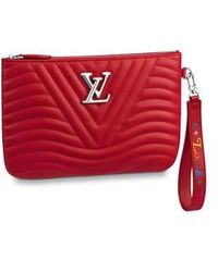 Louis Vuitton New Wave Zipped Pochette - Red