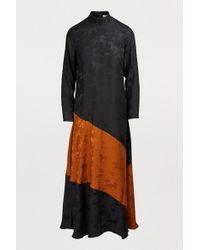 Ganni Ackerly Silk Dress - Black