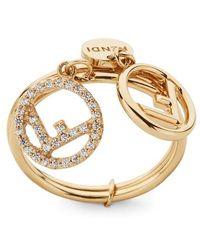 Fendi F Is Ring - Metallic