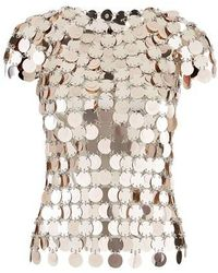 Paco Rabanne Sequinned Top. - Pink