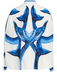 Burberry Printed Blouse - Blue