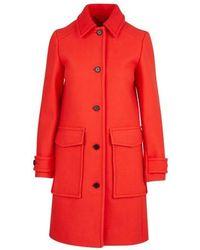 KENZO Manteau coupe droite - Rouge