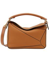 Loewe Tan Puzzle Bag - Brown
