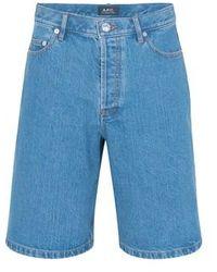 A.P.C. Teddy Shorts - Blue
