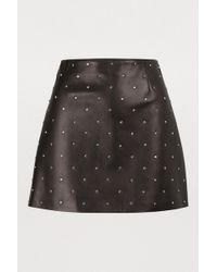 Miu Miu Leather Mini Skirt