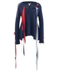 Loewe Ribbons Wool Jumper - Blue