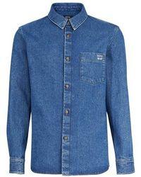 A.P.C. Victor Overshirt - Blue